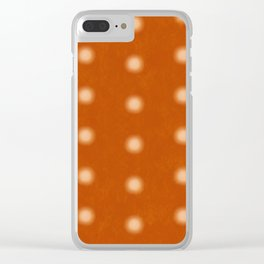 """Polka Dots Degraded & Orange Cream"" Clear iPhone Case"