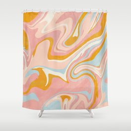 vintage marble Shower Curtain