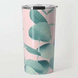 Eucalyptus Leaves Green Blush #1 #foliage #decor #art #society6 Travel Mug