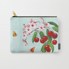 Cherries on Vintage  Carry-All Pouch