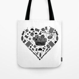I Love Knitting | Wool Needle Heart Sewing Hobby Tote Bag