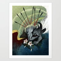 """dragon age Art Prints featuring Dragon Age - Qunari - Betrayal by Barbara """"Yuhime"""" Wyrowińska"""