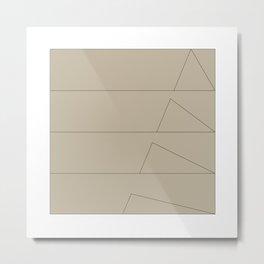 #144 Tectonics – Geometry Daily Metal Print