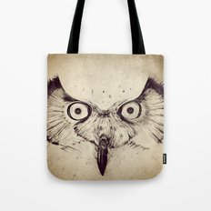 Deconstructed Owl Face Tote Bag