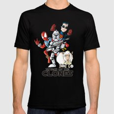 Clones Mens Fitted Tee Black MEDIUM