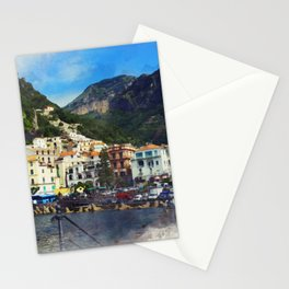 Beautiful Amalfi coast Stationery Cards