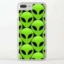 Happy Alien Faces Clear iPhone Case