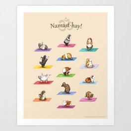 The Yoguineas - Yoga Guinea Pigs - Namast-hay! Art Print
