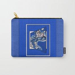 blue boy runnin' (vert frame) Carry-All Pouch