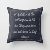 30 rock Throw Pillows featuring Jack Donaghy's throw pillow from 30 rock by Taylor Jean