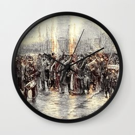 Departure Of A Detachment Of Troops To Ni, Rotterdam - Digital Remastered Edition Wall Clock