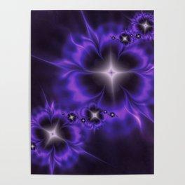Fleur de Nuit Fractal Poster