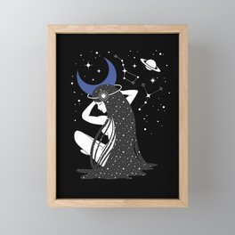 The Goddess of the Night Framed Mini Art Print