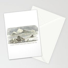 Walrus Sticking Their Heads Through Thin Ice Stationery Cards