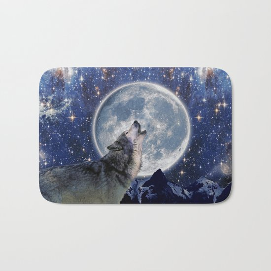 A One Wolf Moon Bath Mat