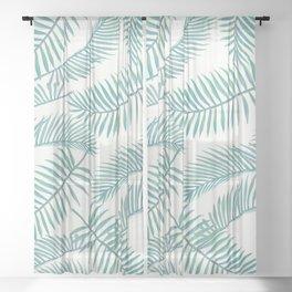 Palm Leaf Pattern Island Paradise Sheer Curtain
