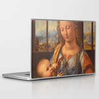 da vinci Laptop & iPad Skins featuring Leonardo da Vinci by Palazzo Art Gallery