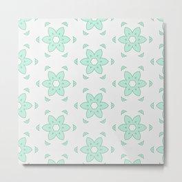 Minty Flower Metal Print