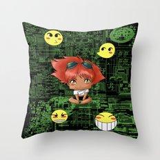 Chibi Edward Throw Pillow