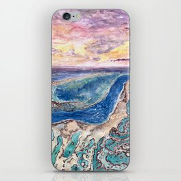 Great Barrier Reef at sunset - aerial view - coral reef - wall art iPhone Skin