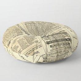 The News Floor Pillow