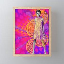 Supermodel Twiggy 1 - Supermodels of the Sixties Series Framed Mini Art Print