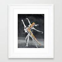 ballet Framed Art Prints featuring Ballet by Ben Giles