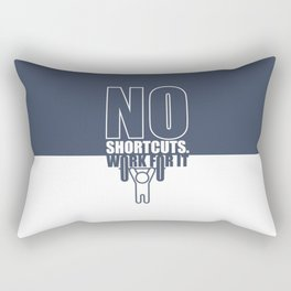 Lab No. 4 - No Shortcuts Work For It Gym Motivational Quotes Poster Rectangular Pillow