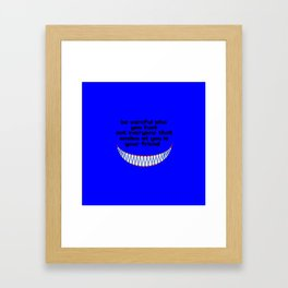 funny quote friend or foe Framed Art Print