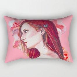 Princess Red Hair Rectangular Pillow