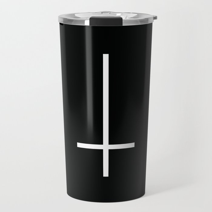 Flipped over cross Travel Mug