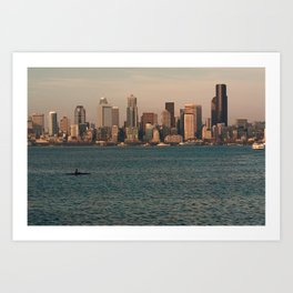 Kakayers in the Puget Sound Near Seattle Art Print