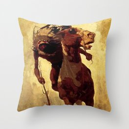 "N C Wyeth Vintage Western Painting ""Indian Lance"" Throw Pillow"