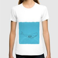 the whale T-shirts featuring Whale by David Penela