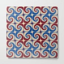 Color Swirl Red Blue Tile Metal Print