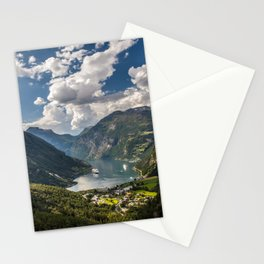 Geiranger Fjord Norway Mountains Stationery Cards
