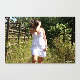 Impulsive touch Canvas Print