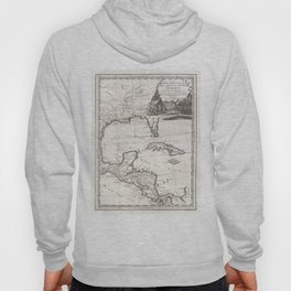 Vintage Map of The Gulf of Mexico (1798) Hoody