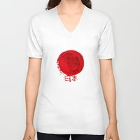 japanese V-neck T-shirts featuring japanese by Nyx Zami