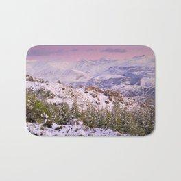 Sierra  nevada mountains at pink sunset Bath Mat