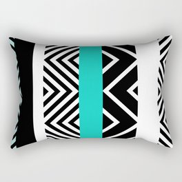 geometric in blue Rectangular Pillow
