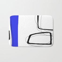 Blocks-Blue Streak  Bath Mat