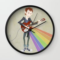 radiohead Wall Clocks featuring Radiohead Thom in Rainbows by AnaMF