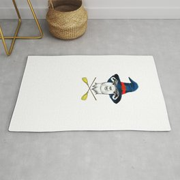 Witch Llama, It's Show Time Funny Halloween Horror Scary Rug