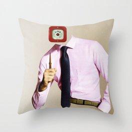Business Man Alarm Throw Pillow