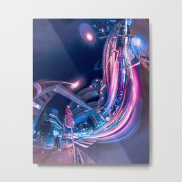 Tokyo Neon Night Light Metal Print