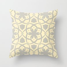 Pattern Print Edition 1 No. 1 (yellow and gray) Throw Pillow