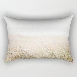 Dune grass | Ireland travel photogragraphy print | At the beach Rectangular Pillow