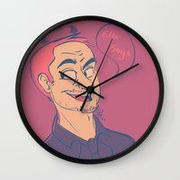 crowley Wall Clocks featuring Crowley by The Art of Nicole