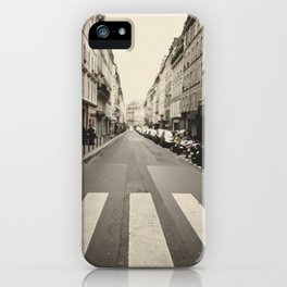 The streets of Paris, France iPhone Case
